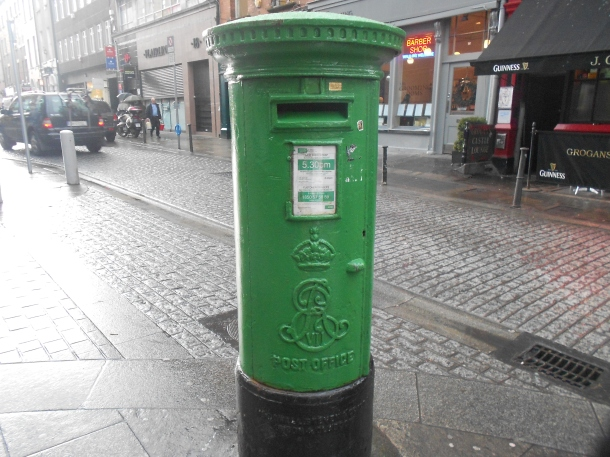 Green Dublin Postbox