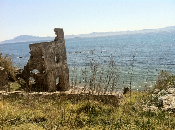 beach ruins in Tarifa Spain