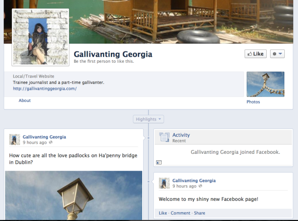 Facebook fan page Gallivanting Georgia