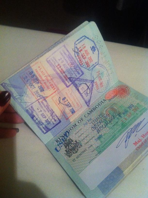 Cambodian visa passport