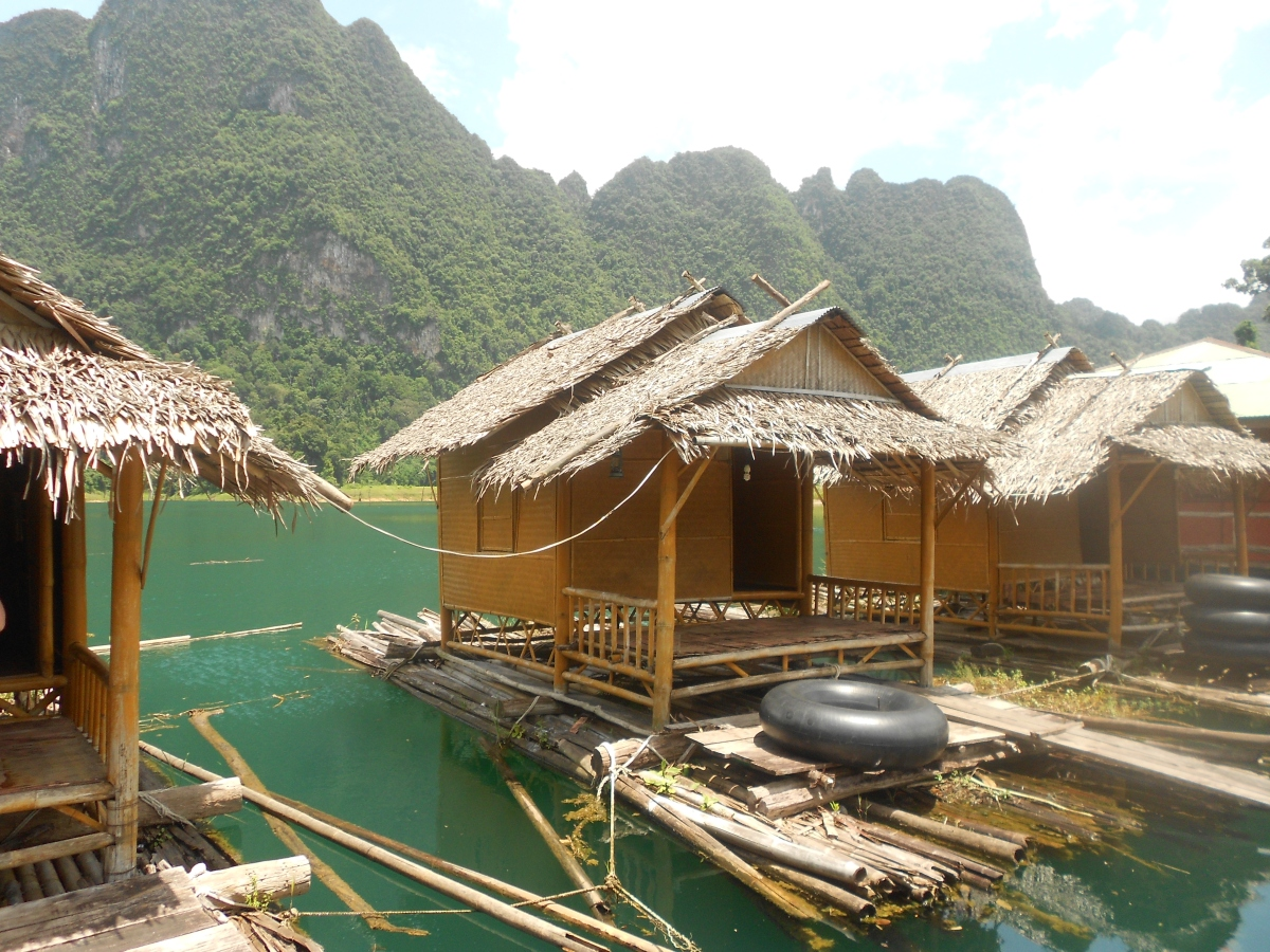 Back to basics - floating bungalows at Khao Sok National Park