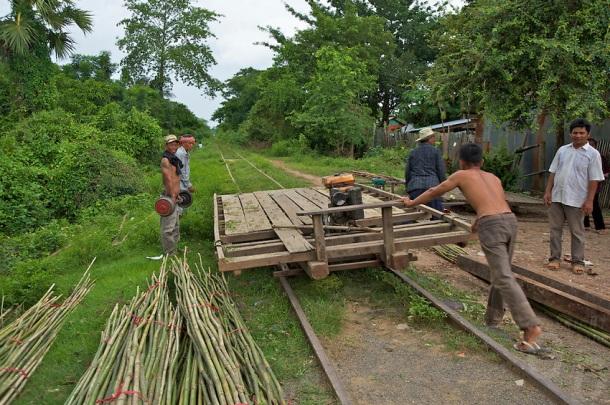 Battambang Bamboo Train Cambodia