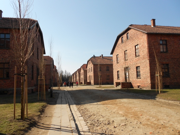 Auschwitz-Birkenau concentration camp barracks