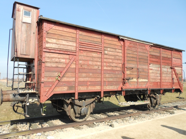 Auschwitz-Birkenau concentration camp train car