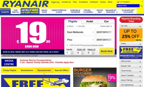 Ryanair page