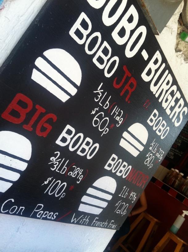 Bobo Burgers Isla Mujeres