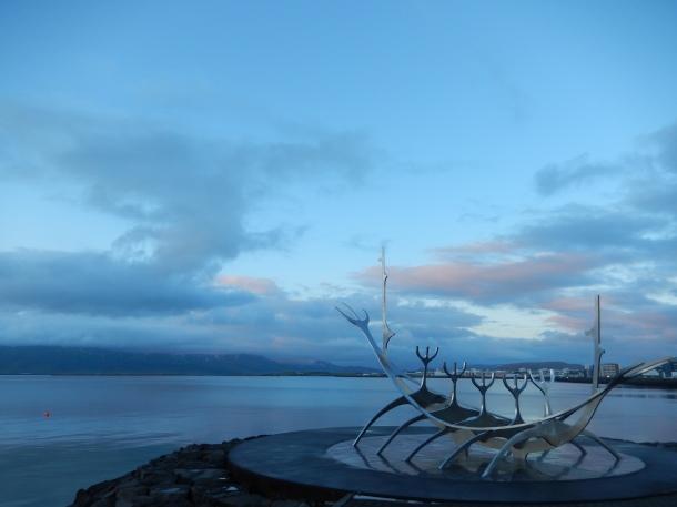 Reykjavik, Iceland, Viking Boat, Sunset