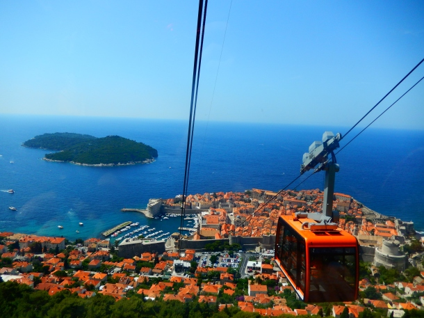 Croatia, Dubrovnik, Cable Car Dubrovnik, Mount Srd, Lombrok