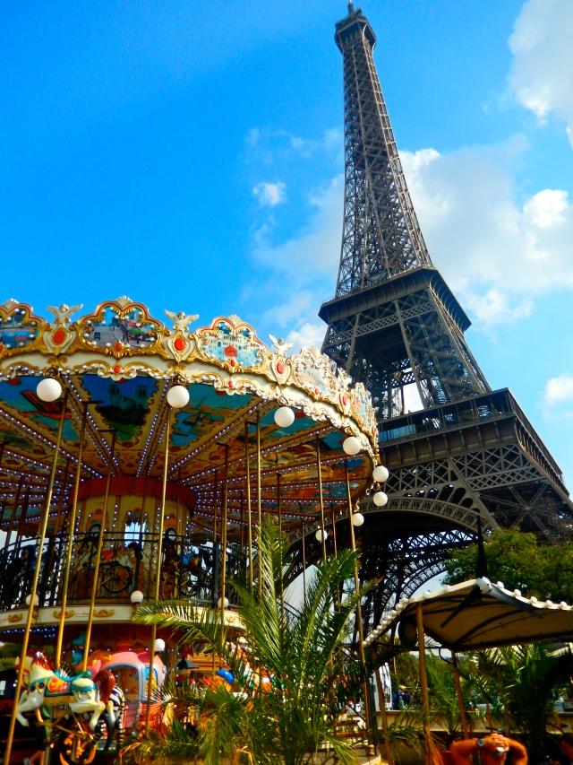 Eiffel Tower, France, Paris, Carousel,