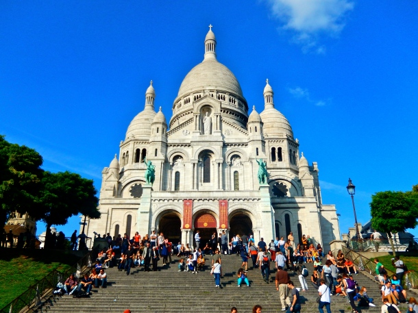 Sacre-coeur, Paris, france, travel, basilica, cathedral