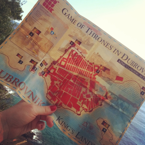Game of Thrones, Dubrovnik, Kings Landing, Map, Game of Thrones locations, GoT, Map