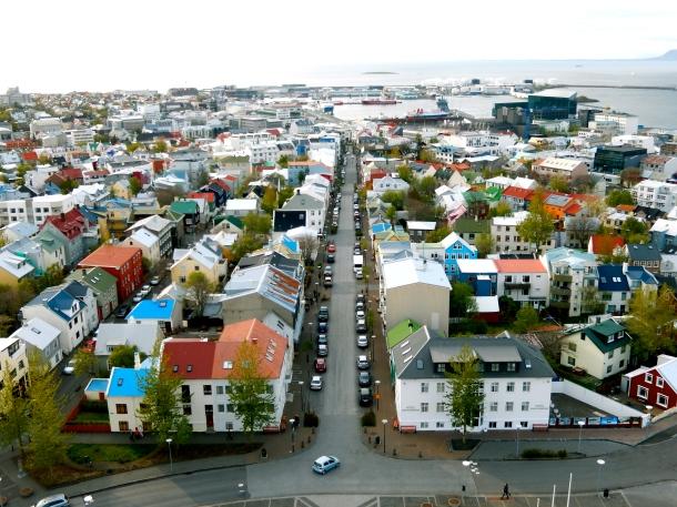 Hallgrímskirkja, View Hallgrímskirkja, Reykjavik, Iceland