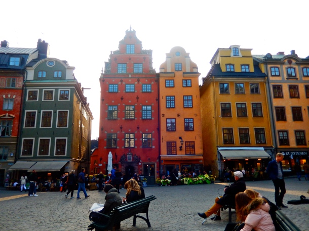 Gamla Stan, Stockholm, Old Town Stockholm, Sweden, colourful Europe