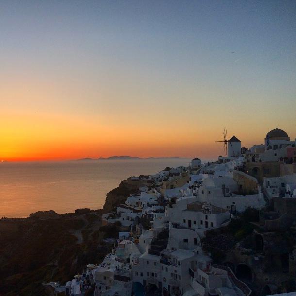 Santorini, Oia, Sunset Santorini, Greece, Greek sunset, May in Santorini, Spring in Santorini, Sunset Oia, best sunset in world, romantic sunset