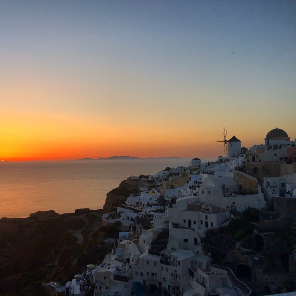 Santorini, Oia, Sunset Santorini, Greece, Greek sunset, May in Santorini, Spring in Santorini, Sunset Oia, best sunset in world, romantic sunset
